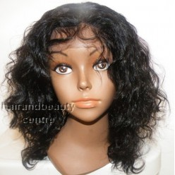 Lace Front Wig Indian Remy hair 10inch BodyWave 1b