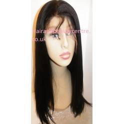 Lace Front Wig Straight Indian Remy hair 18inch 1b
