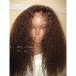Full Lace 100% Indian Remy  tight curly   colour 4 20inches