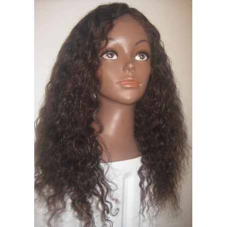 Water Wavy full lace wig  colour 3 and 4 mixed