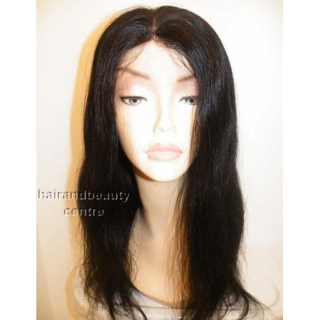 Lace Wig Indian Remy Natural Straight  colour 1 16inch