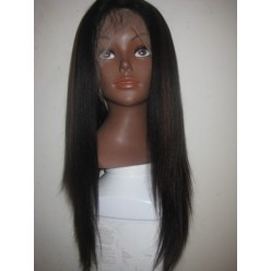 Full lace wig indian remy light yaki Straight  1b/33 16inch