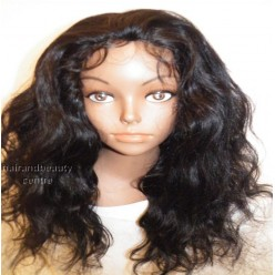Lace wig brazilian Remy Natural Straight  24inch Natural colour