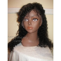 Full Lace 100% Indian Remy  tight curly   colour 1b and 30 highlights 18inche