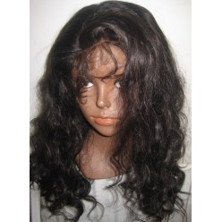 No Glue Full Lace Wig  Malaysain Body wave 18inch 1b