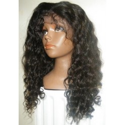Glueless Lace Front Wig Brazilian Virgin Hair Curl 18inch