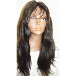 Full lace wig Silky Straight  20inch 1b indian hair
