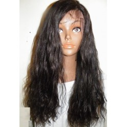 Full Lace Wig  Indian Remy loosewave 22inch colour 1