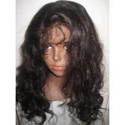 No glue Full lace wig Virgin Hair 20inch 1b