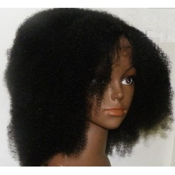 Lace Wig Natural afro kinky curl  12inch colour 1b