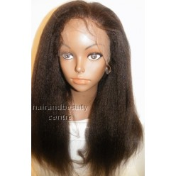 Italian Yaki Kinky Straight Lace Wig 16inch Indian Remy
