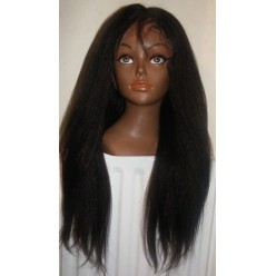 Lace Wig Kinky Straight 18inch Natural 2