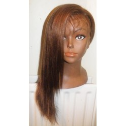 Full lace wig 100% indian hair Light Yaky 18inch colour 4